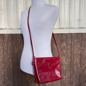 Monsac crossbody bag genuine leather red